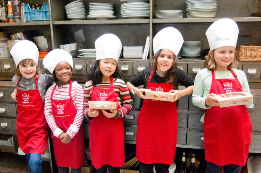 Kids cooking French classes