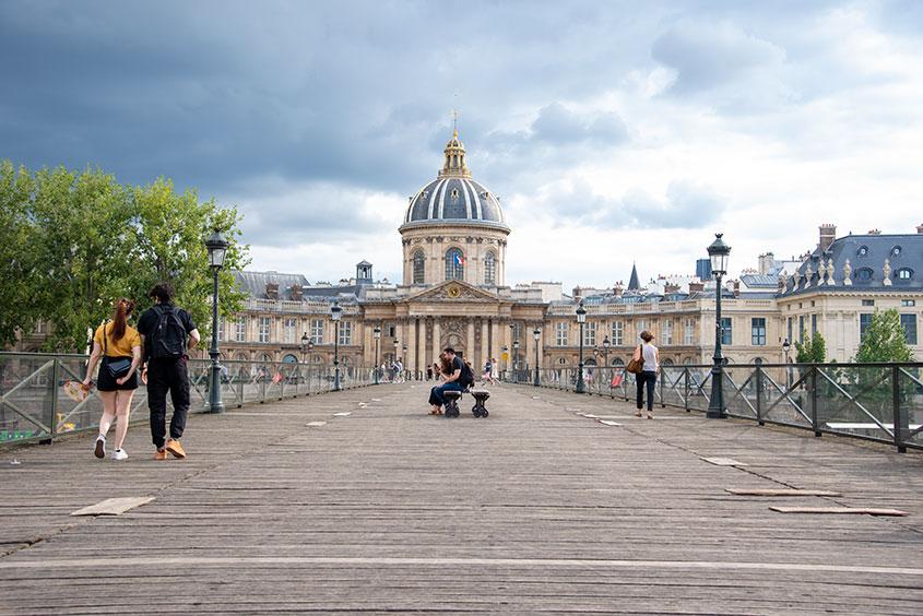 Pont Des Arts bridge over the Seine River